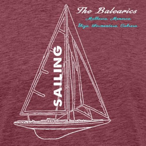 Segeln auf den Balearen: Mallorca, Menorca, Ibiza, - Camiseta premium hombre
