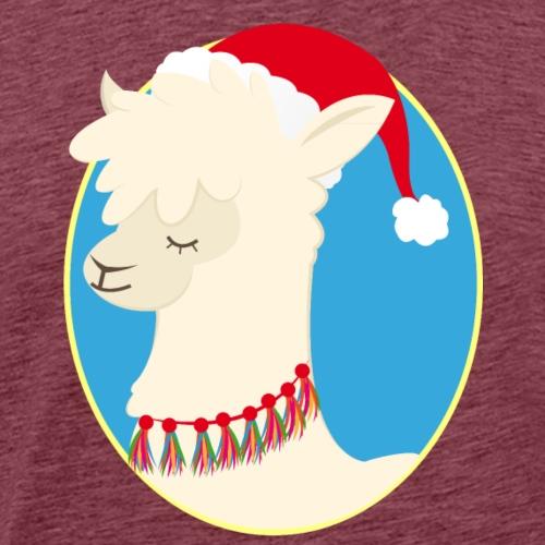 Christmas Llama - Männer Premium T-Shirt