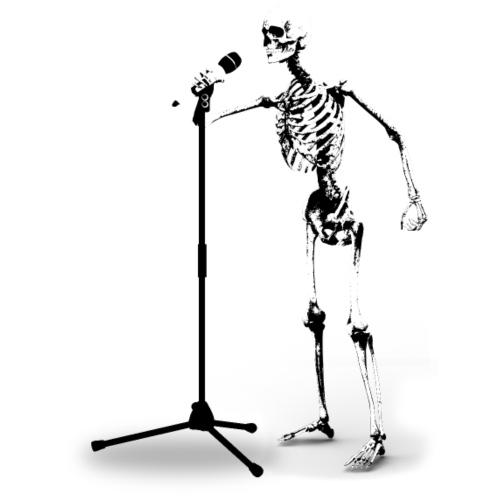 Skeleton Singer - Männer Premium T-Shirt