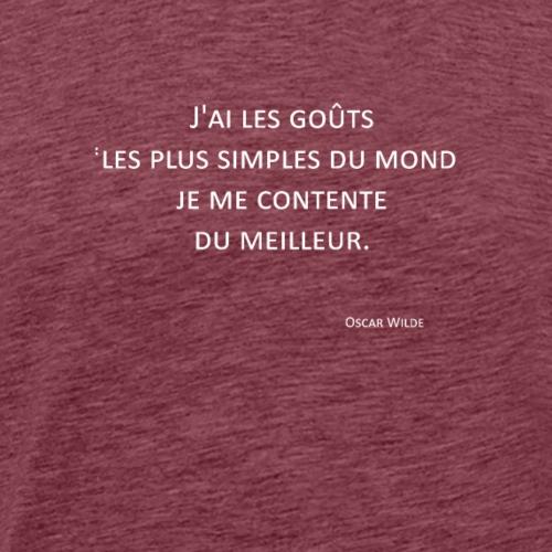 Gôuts - Oscar Wilde - T-shirt Premium Homme