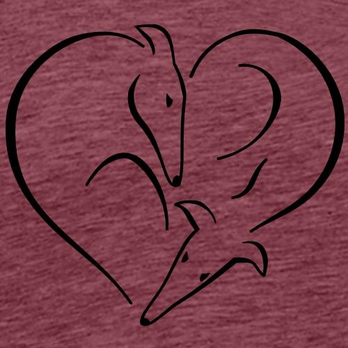 Windhundherz - Männer Premium T-Shirt