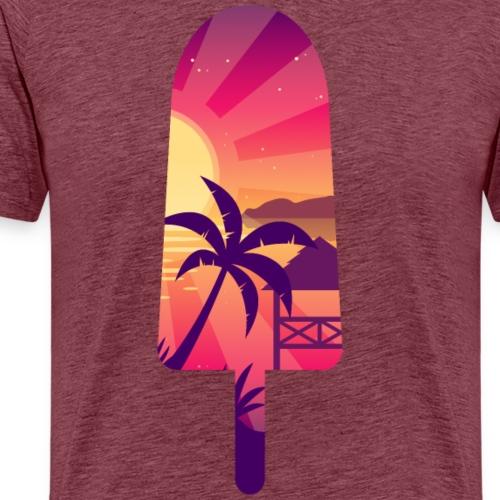 Asiatisches Meerblick-Schattenbild gefrorener Stock - Männer Premium T-Shirt