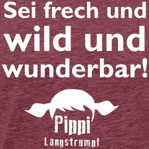 PIPPI & OVIGO-Logo - Männer Premium T-Shirt
