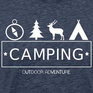 Outdoor Adventure Camp - Premium-T-shirt herr