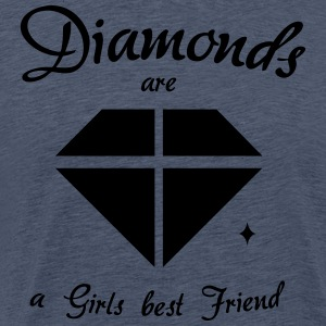 Diamanter er en Girls Best Friend - Premium T-skjorte for menn