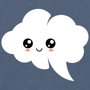 Kawaii cloud, anime, manga, comic, speech bubble - Men's Premium T-Shirt