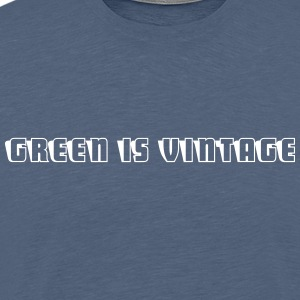 Green.is.vintage.2 - Mannen Premium T-shirt