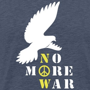 No More War nu Silhouette - Premium-T-shirt herr
