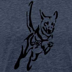 Malinois jump - Men's Premium T-Shirt