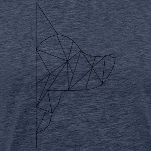 Triangle-Dog - Mannen Premium T-shirt