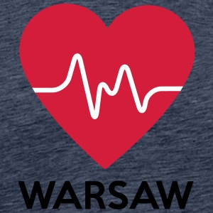 heart Warsaw - Men's Premium T-Shirt