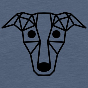 Dog - art - form - diamond - Men's Premium T-Shirt