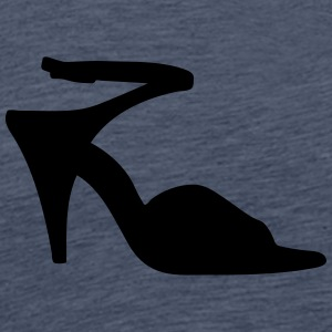 Vector highheels Silhouette - Men's Premium T-Shirt