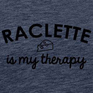 Raclette is my therapy - Men's Premium T-Shirt