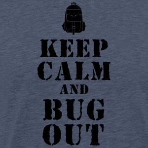 Escape rugzak / Bug-Out-Bag Prepper T-shirt - Mannen Premium T-shirt