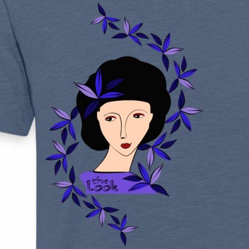 Cara 4a azul-lila (serie The Look) - Camiseta premium hombre
