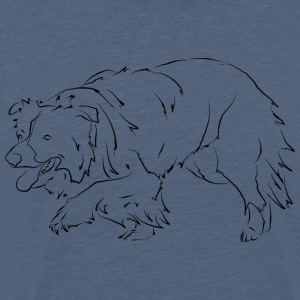 Border Collie N - T-shirt Premium Homme