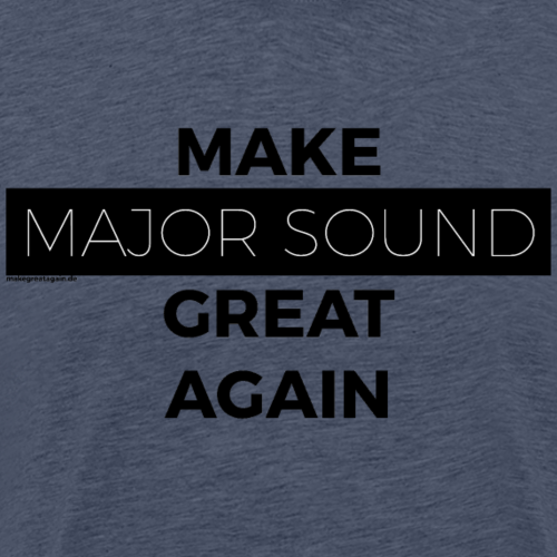Design Major Sound black - Männer Premium T-Shirt