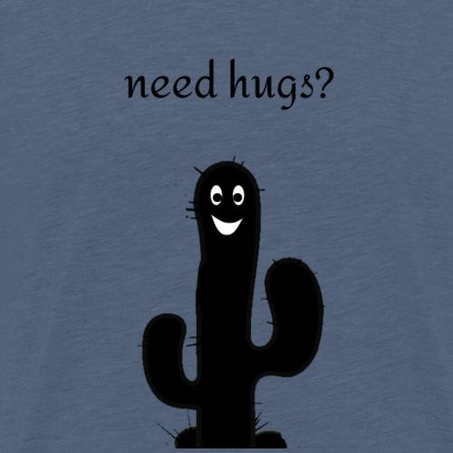 Kaktus need hugs - Männer Premium T-Shirt