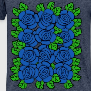 Blue Roses (Transparent) - Männer Premium T-Shirt