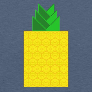 DIGITAL FRUITS - Digitale ANANAS - Digi Pineapple - Männer Premium T-Shirt