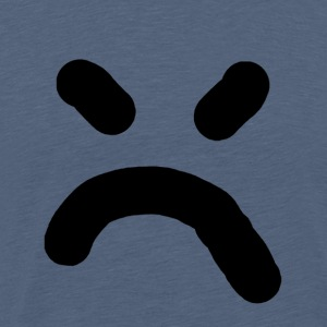 dårlig smiley - Herre premium T-shirt