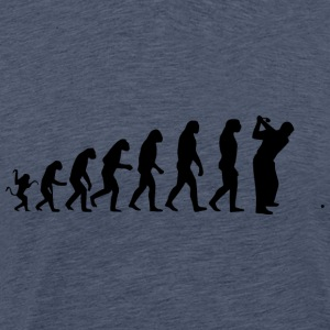 Golf evolution - Herre premium T-shirt