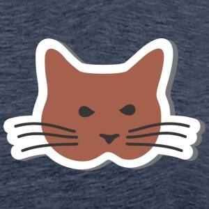Cat with whiskers - Men's Premium T-Shirt