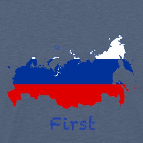 Russia First - Männer Premium T-Shirt