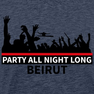 Party All Night Long Beirut - Miesten premium t-paita