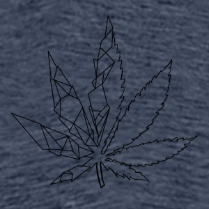 Stylized cannabis leaf - Men's Premium T-Shirt