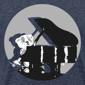 Teddy pianist - Men's Premium T-Shirt