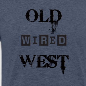 old wired west Black - Maglietta Premium da uomo