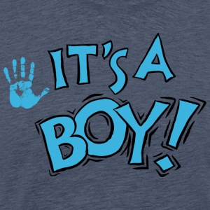 Newborn It's A Boy (PERSONALIZE ADD DATE} - Men's Premium T-Shirt