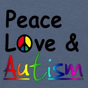 Peace Love & Autism - Herre premium T-shirt