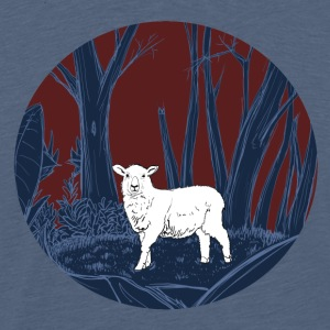 Sheep in the forest - Men's Premium T-Shirt