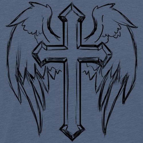 Kreuz mit Flügeln - Männer Premium T-Shirt