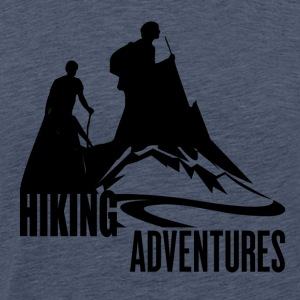 Hiking Adventures - Wanderlust - Mannen Premium T-shirt