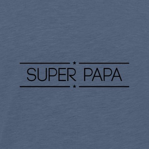 Logo Super Papa Noir - T-shirt Premium Homme