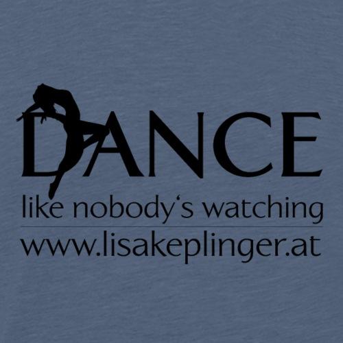 dance logo schwarz - Männer Premium T-Shirt