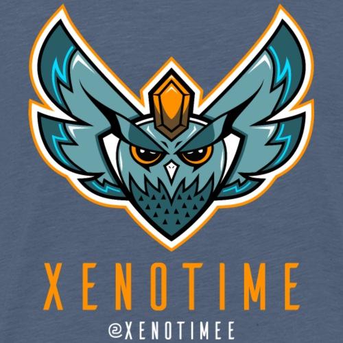 Logo + Texte + Tag + Orange - T-shirt Premium Homme
