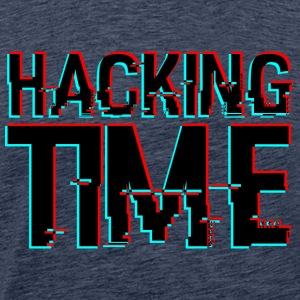 HACKING TIME HACKER - Herre premium T-shirt