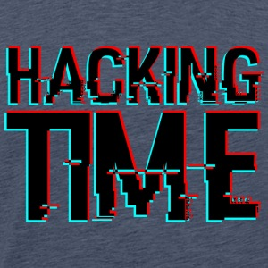 HACKING TIME HACKER - Mannen Premium T-shirt