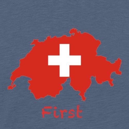 Switzerland, First - Männer Premium T-Shirt