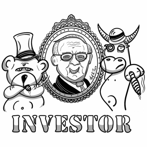 Bär und Bulle mit Warren Buffett - Investor - Männer Premium T-Shirt