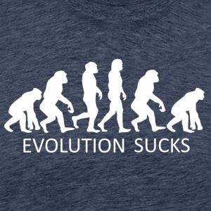 ++ ++ Evolution Sucks - Herre premium T-shirt
