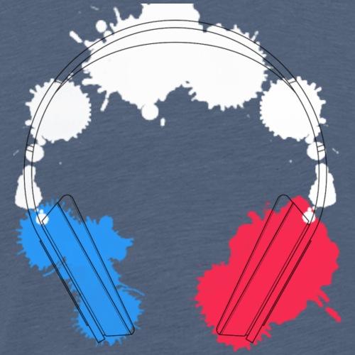 Headphone France - Männer Premium T-Shirt