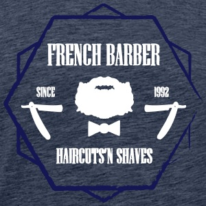 FRENCH BARBER - Premium T-skjorte for menn