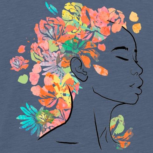 Femme fleurs - T-shirt Premium Homme