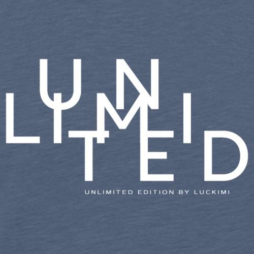 Unlimited white - Premium-T-shirt herr